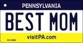 Best Mom Pennsylvania State License Plate Wholesale Key Chain KC-6662