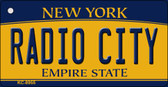 Radio City New York State License Plate Wholesale Key Chain KC-8955
