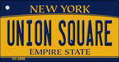 Union Square New York State License Plate Wholesale Key Chain KC-8956