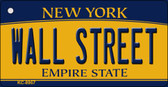 Wall Street New York State License Plate Wholesale Key Chain KC-8957