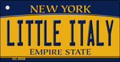 Little Italy New York State License Plate Wholesale Key Chain KC-8958