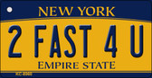 2 Fast 4 U New York State License Plate Wholesale Key Chain KC-8960