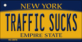 Traffic Sucks New York State License Plate Wholesale Key Chain KC-8976