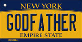 Godfather New York State License Plate Wholesale Key Chain KC-8984