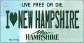 I Love New Hampshire State License Plate Wholesale Key Chain KC-11132