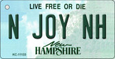 N Joy NH New Hampshire State License Plate Wholesale Key Chain KC-11133