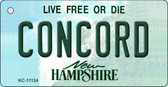 Concord New Hampshire State License Plate Wholesale Key Chain KC-11134