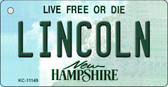 Lincoln New Hampshire State License Plate Wholesale Key Chain KC-11149