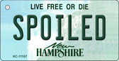 Spoiled New Hampshire State License Plate Wholesale Key Chain KC-11157