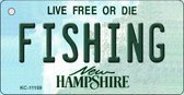 Fishing New Hampshire State License Plate Wholesale Key Chain KC-11159