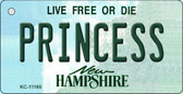 Princess New Hampshire State License Plate Wholesale Key Chain KC-11165