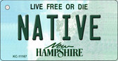 Native New Hampshire State License Plate Wholesale Key Chain KC-11167