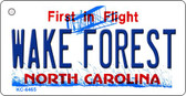 Wake Forest North Carolina State License Plate Wholesale Key Chain KC-6465