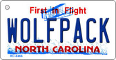 Wolfpack North Carolina State License Plate Wholesale Key Chain KC-6466
