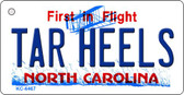 Tar Heels North Carolina State License Plate Wholesale Key Chain KC-6467
