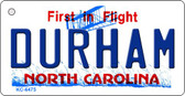 Durham North Carolina State License Plate Wholesale Key Chain KC-6475