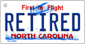 Retired North Carolina State License Plate Wholesale Key Chain KC-6480