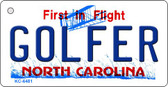 Golfer North Carolina State License Plate Wholesale Key Chain KC-6481