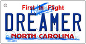 Dreamer North Carolina State License Plate Wholesale Key Chain KC-6495