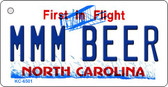 MMM Beer North Carolina State License Plate Wholesale Key Chain KC-6501