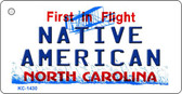 Native American North Carolina State License Plate Wholesale Key Chain KC-1430
