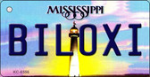 Biloxi Mississippi State License Plate Wholesale Key Chain KC-6556