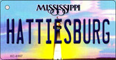 Hattiesburg Mississippi State License Plate Wholesale Key Chain KC-6557