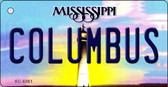 Columbus Mississippi State License Plate Wholesale Key Chain KC-6561
