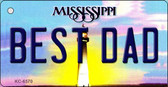 Best Dad Mississippi State License Plate Wholesale Key Chain KC-6570