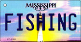 Fishing Mississippi State License Plate Wholesale Key Chain KC-6586
