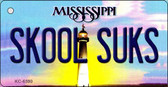 Skool Suks Mississippi State License Plate Wholesale Key Chain KC-6590