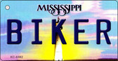 Biker Mississippi State License Plate Wholesale Key Chain KC-6592