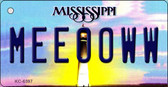 Meeooww Mississippi State License Plate Wholesale Key Chain KC-6597
