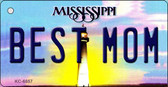 Best Mom Mississippi State License Plate Wholesale Key Chain KC-6657