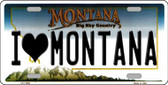 I Love Montana State Novelty Wholesale License Plate LP-11086