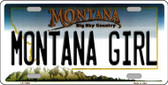 Montana Girl State Novelty Wholesale License Plate LP-11088