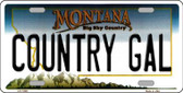 Country Gal Montana State Novelty Wholesale License Plate LP-11089