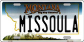Missoula Montana State Novelty Wholesale License Plate LP-11091