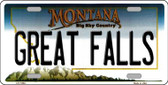 Great Falls Montana State Novelty Wholesale License Plate LP-11094