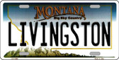Livingston Montana State Novelty Wholesale License Plate LP-11098