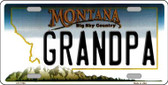 Grandpa Montana State Novelty Wholesale License Plate LP-11104