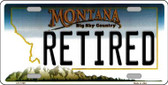 Retired Montana State Novelty Wholesale License Plate LP-11105