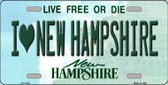 I Love New Hampshire State Wholesale License Plate LP-11132