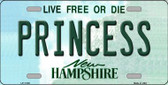 Princess New Hampshire State Wholesale License Plate LP-11165