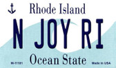 N Joy RI Rhode Island State License Plate Novelty Wholesale Magnet M-11181