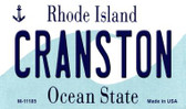 Cranston Rhode Island State License Plate Novelty Wholesale Magnet M-11185