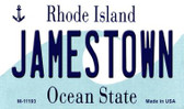 Jamestown Rhode Island State License Plate Novelty Wholesale Magnet M-11193