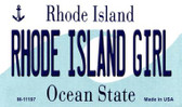 Rhode Island Girl Rhode Island State License Plate Novelty Wholesale Magnet M-11197