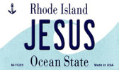 Jesus Rhode Island State License Plate Novelty Wholesale Magnet M-11205