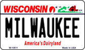 Milwaukee Wisconsin State License Plate Novelty Wholesale Magnet M-10611